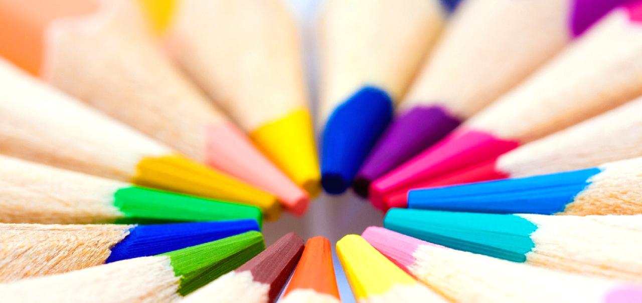 Farbstifte unterschiedliche Farben