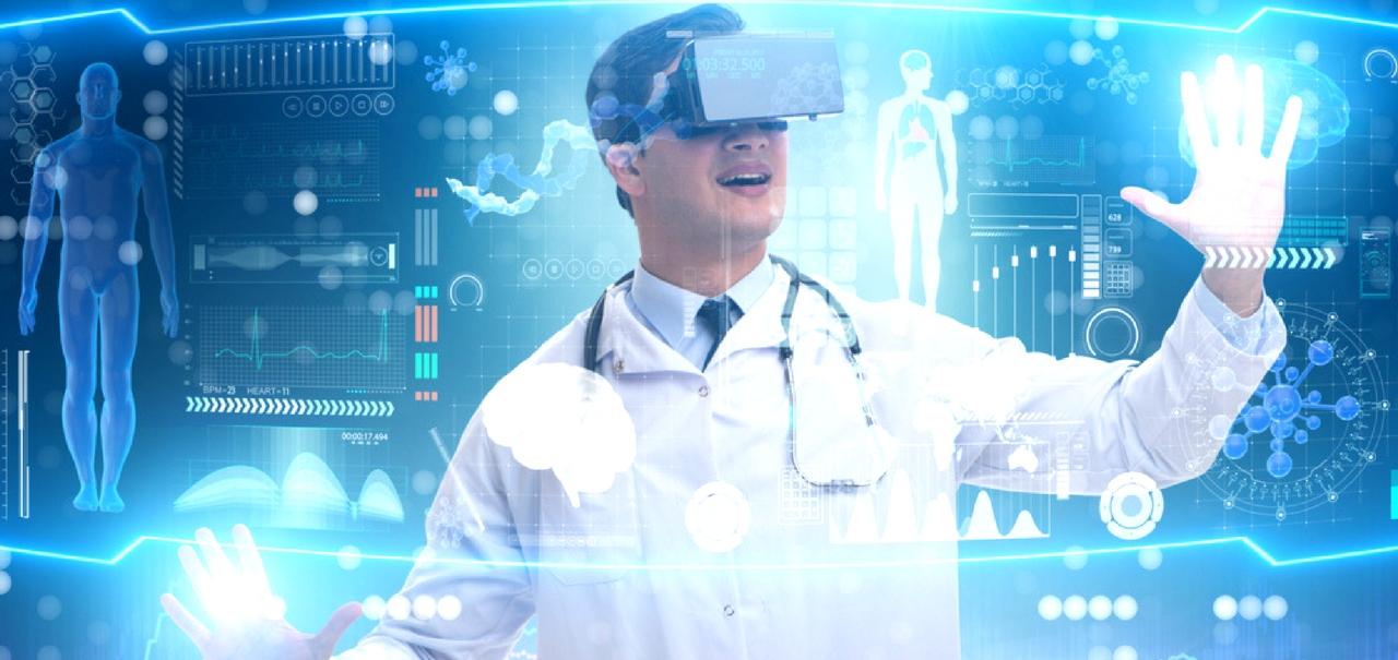 Virtual Reality und Medizin Arzt nutzt Technologie