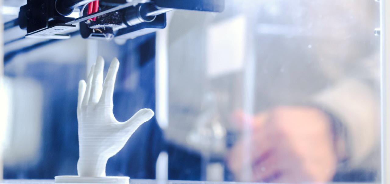 Künstliche Hand aus dem 3d-Drucker